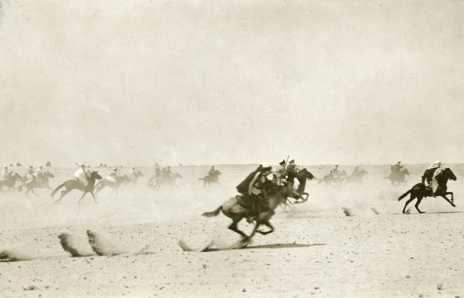 Charge of the Algerian Dragoons on the Belgian front 1915