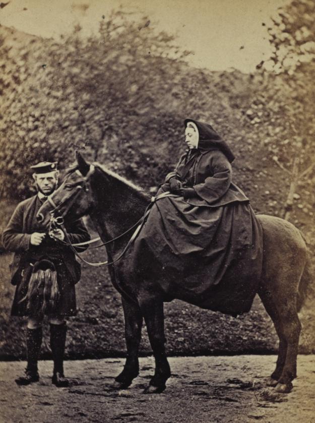 Queen Victoria on Fyvie 1863
