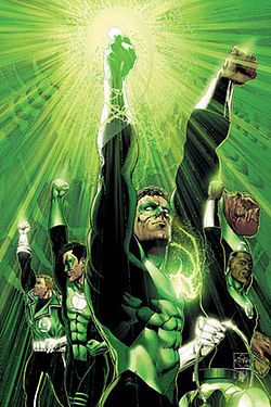If only The Green Lantern were here to shine the light of justice and rock and roll...