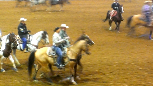 Oh, I'm just a normal cowgirl. Kinda made it to high point call back.  It was fun.